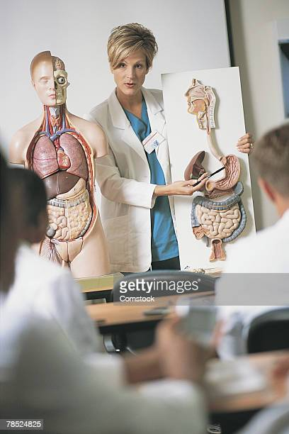 Instructor teaching class at medical school