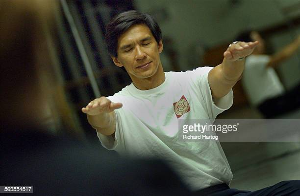 Instructor Terry Dunn leads during a Tai–Chi class Tuesday night at the Westside Academy of Dance in Santa Monica The ancient martial art of Tai Chi...