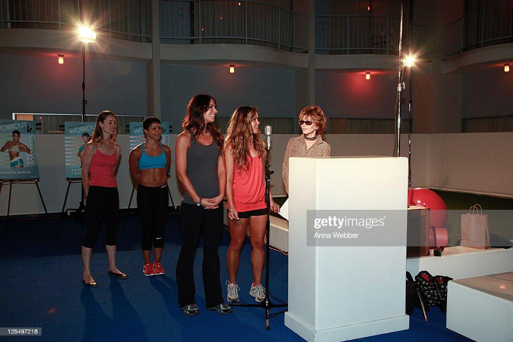 Jane Fonda Workout Launch Event : News Photo