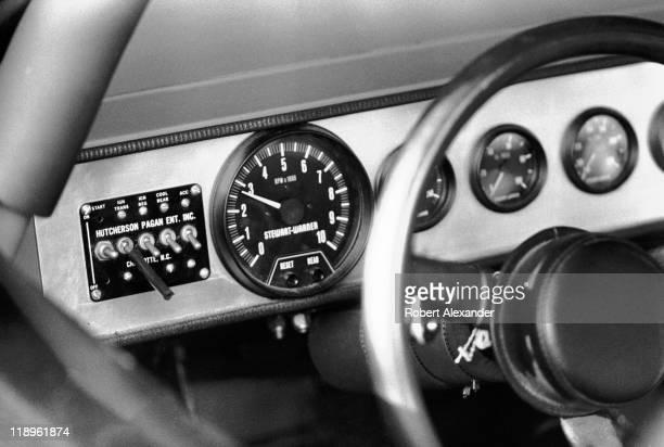 Instrument panel on the dashboard of NASCAR driver AJ Foyt's race car at the 1985 Daytona 500 on February 17 1985 at the Daytona International...