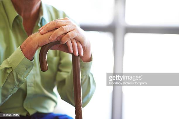 instrumental in his recovery - walking cane stock photos and pictures