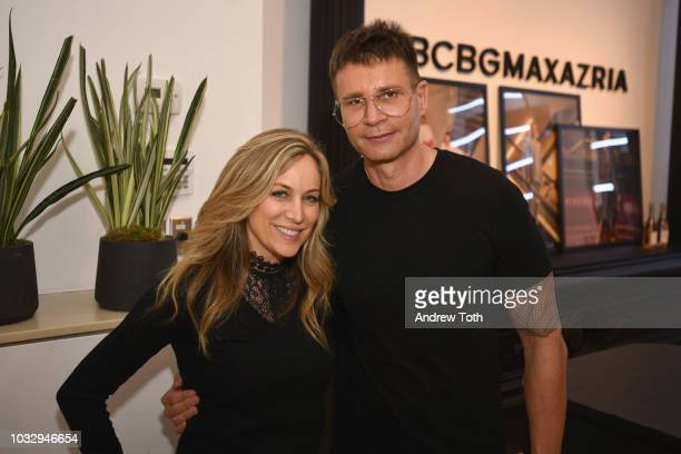 InStyle and Shape Magazine Group Publisher Laura FrererSchmidt and BCBG Creative Director Bernd Kroeber attend the celebration of the BCBGMAXAZRIA...