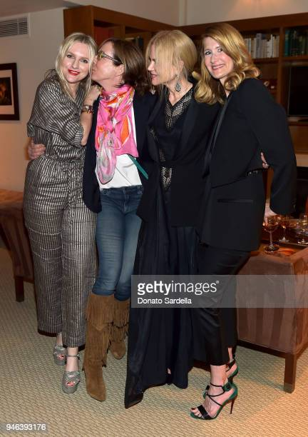 InStyle Editor in Chief Laura Brown and actresses Allison Janney Nicole Kidman and host Laura Dern attend InStyle and Brahmin's Badass Women Dinner...