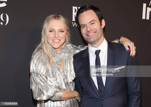 InStyle Editor in Chief Laura Brown and Bill Hader attend the Fifth Annual InStyle Awards at The Getty Center on October 21 2019 in Los Angeles...