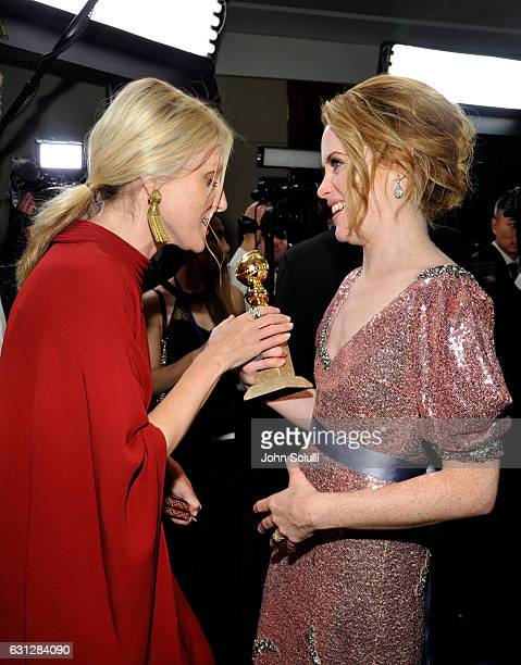 InStyle EditorinChief Laura Brown and actress Claire Foy winner of the Best Performance by an Actress in a Television Series Drama for 'The Crown'...