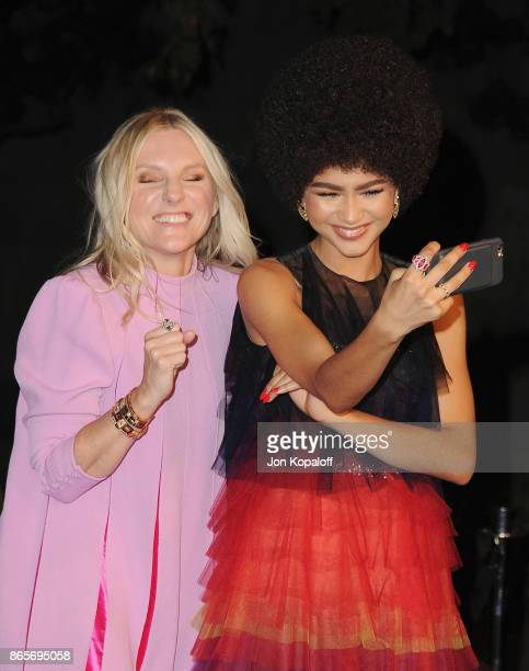 InStyle EditorinChief Laura Brown and actress Zendaya arrive at the 3rd Annual InStyle Awards at The Getty Center on October 23 2017 in Los Angeles...
