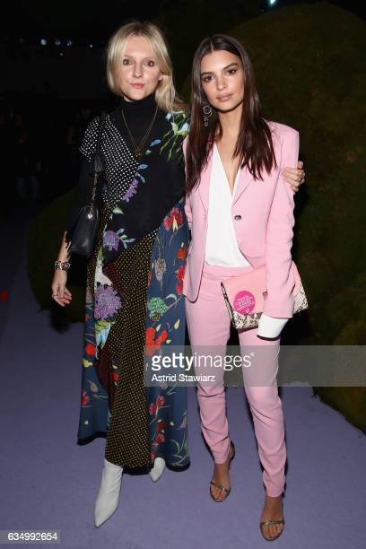 InStyle editorinchief Laura Brown and model Emily Ratajkowski attend the Altuzarra fashion show during New York Fashion Week on February 12 2017 in...