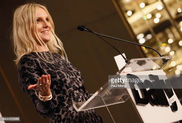 InStyle EIC Laura Brown accepts the award for Best September Issue onstage during the Daily Front Row's Fashion Media Awards at Four Seasons Hotel...