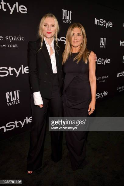 InStyle Magazine Editor in Chief Laura Brown and Jennifer Aniston attend the 2018 InStyle Awards at The Getty Center on October 22 2018 in Los...