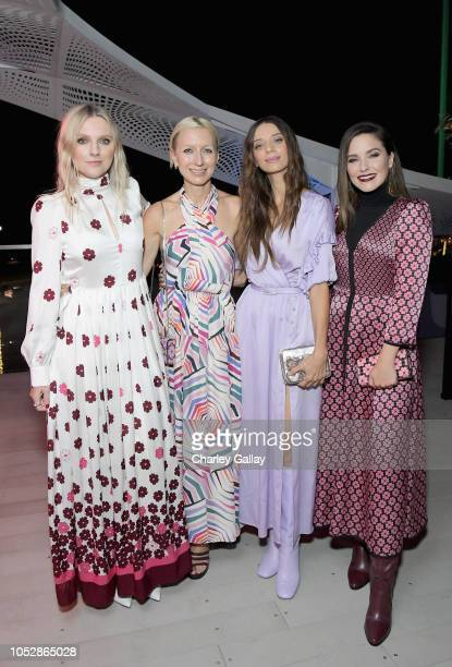 InStyle Magazine Editor in Chief Laura Brown Kate Spade Creative Director Nicola Glass Angela Sarafyan and Sophia Bush attend the InStyle and Kate...