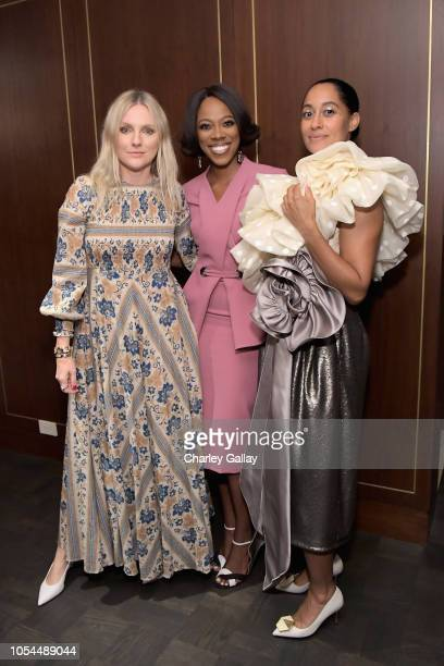InStyle Magazine Editor In Chief Laura Brown Yvonne Orji and Tracee Ellis Ross attend InStyle Badass Women Dinner hosted by Tracee Ellis Ross and...