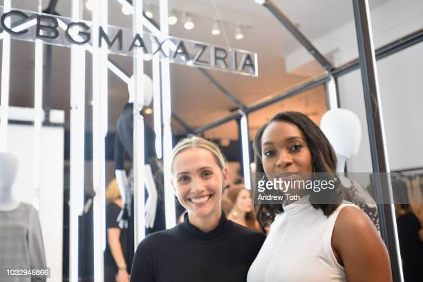 InStyle Magazine Fashion Feature Editor Laurie Pantin and InStyle Magazine News Editor Alexis Bennet attends the celebration of the BCBGMAXAZRIA SoHo...