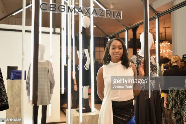 InStyle Magazine News Editor Alexis Bennet attends the celebration of the BCBGMAXAZRIA SoHo store opening with Kate Young Bernd Kroeber and InStyle...