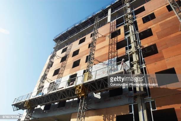Insulation instalment on building Barking Essex UK