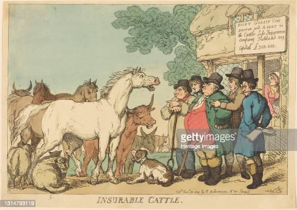 Insurable Cattle, published 1809. Artist Thomas Rowlandson.