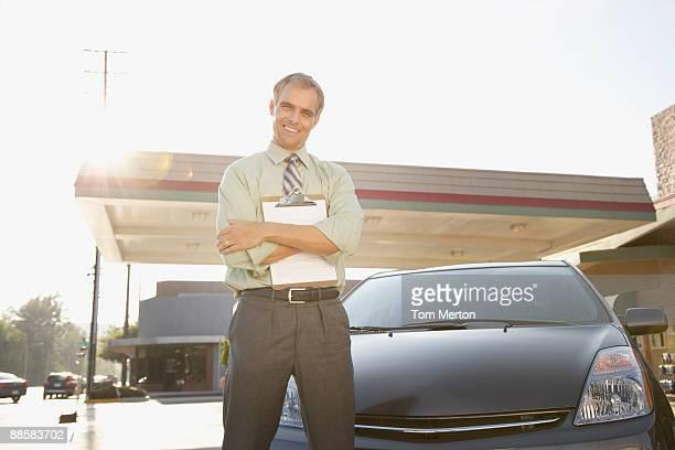 Versicherung Inspektion Auto zum Einstellen der Passform