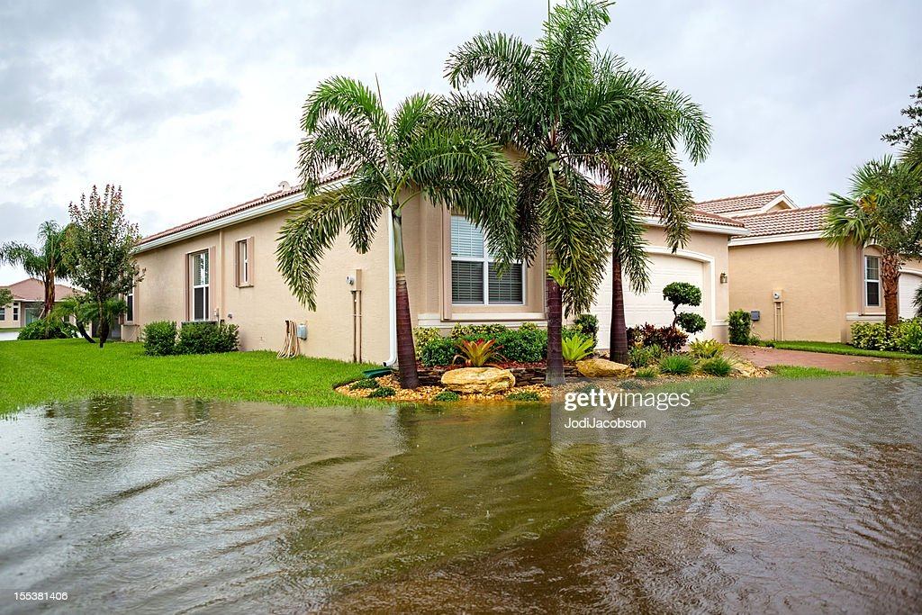 Insurance Claim: Flooding from a hurricane : Stock Photo