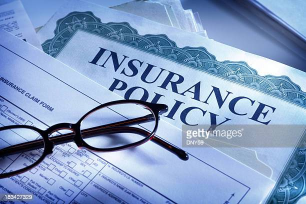 insurance claim form and insurance policy - health insurance stock pictures, royalty-free photos & images