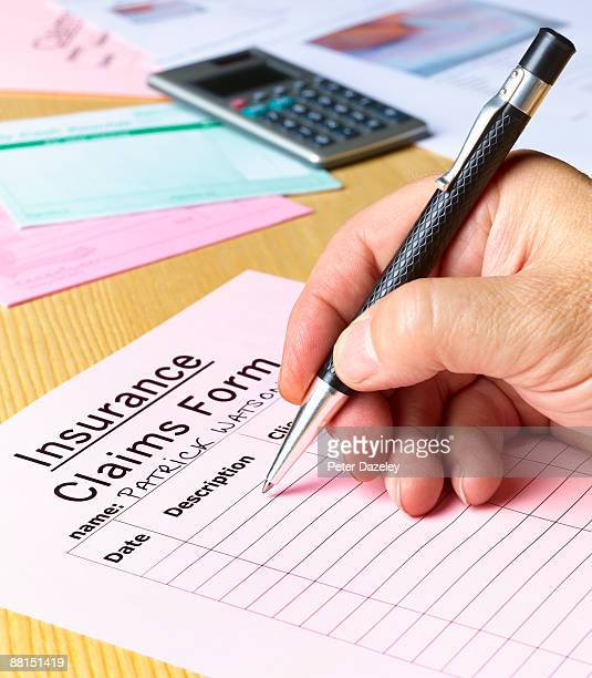 insurance claim form.  - expense stock pictures, royalty-free photos & images
