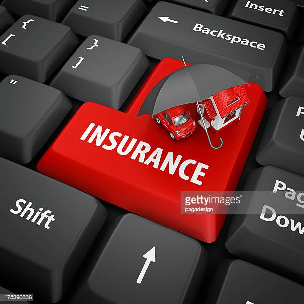 insurance enter key - house icon stock pictures, royalty-free photos & images