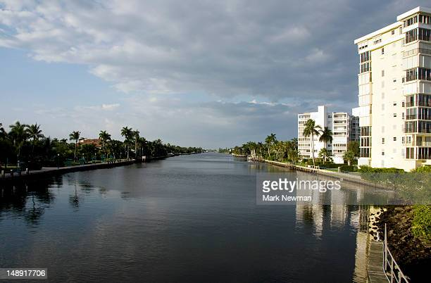 intacoastal waterway. - delray beach stock photos and pictures