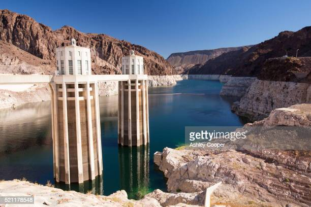 Intake towers for the Hoover Dam hydro electric power station
