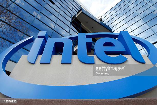 Intel Corp signage is displayed outside of the company's headquarters in Santa Clara California US on Tuesday April 19 2011 Intel Corp the biggest...