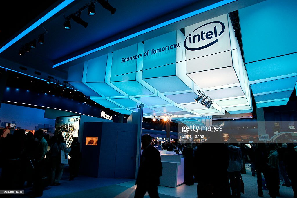 Intel exhibit at the 2010 International Consumer Electronics Show at News Photo - Getty Images