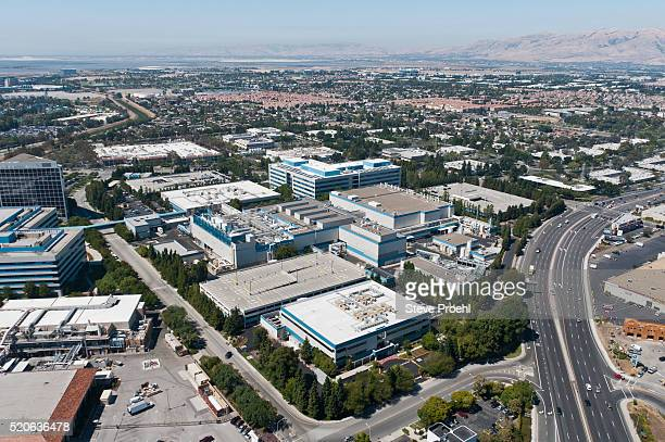 intel headquarters - birthplace of silicon valley stockfoto's en -beelden