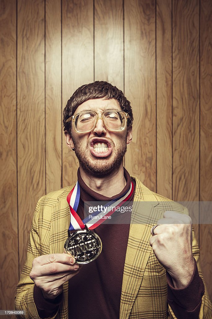 Intellectual Vintage Professor : Stock Photo