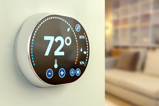 Intelligent home automation system: Fahrenheit temperature multimedia thermostat 474100082