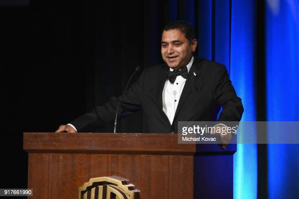 Intel's Ravindra Velhal presents onstage at the Advanced Imaging Society 2018 Lumiere Awards presented by Dell and Cisco at Steven J Ross Theatre on...