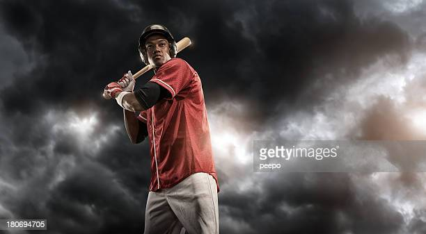 Intense Baseball Player