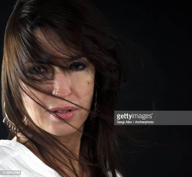 Intense gaze with black background