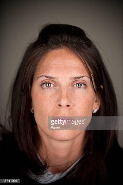 Retrato de mujer intenso