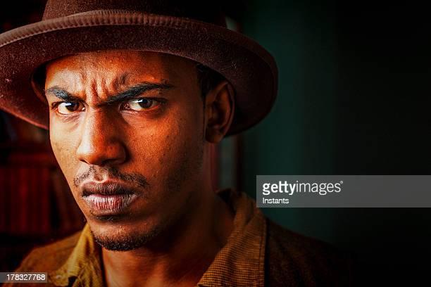Intense Young Man
