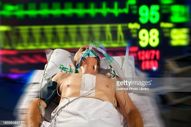 intensive care patient - patient on ventilator stock pictures, royalty-free photos & images
