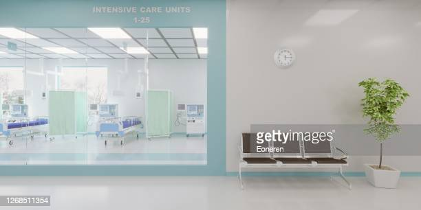 intensive care unit in the hospital - ward stock pictures, royalty-free photos & images