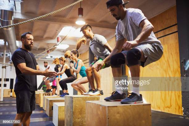 intensive training gym in barcelona fitness and sport concepts. - crossfit stock pictures, royalty-free photos & images