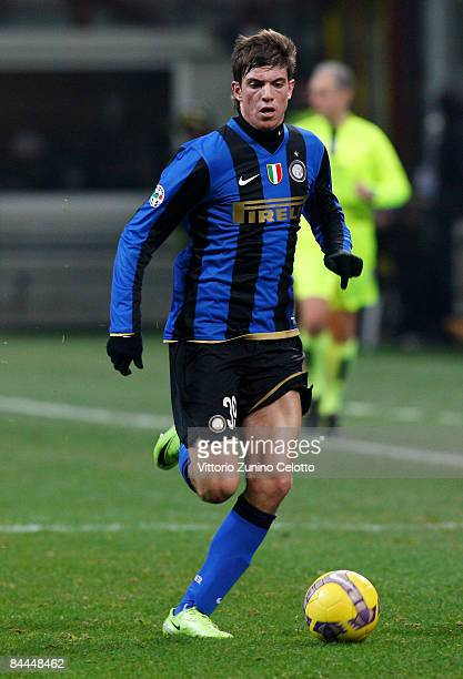 FC inter defender Davide Santon in action during FC Inter Milan v UC Sampdoria on January 25 2008 in Milan Italy