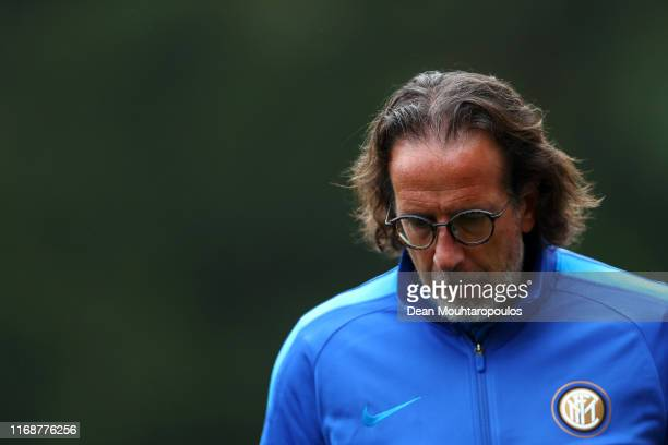 Inter Head Coach / Manager Armando Madonna gives his players instructions from the sidelines during The Otten Cup Final match between PSV Eindhoven...