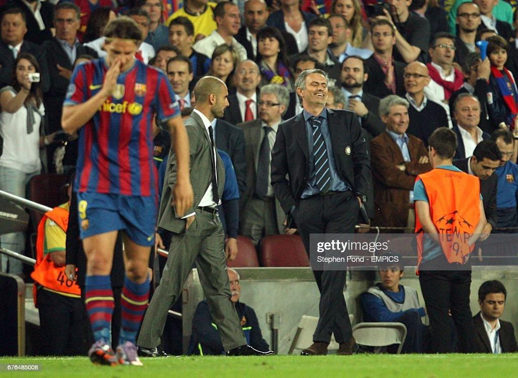 Soccer - UEFA Champions League - Semi Final - Second Leg - Barcelona v Inter Milan - Nou Camp : News Photo