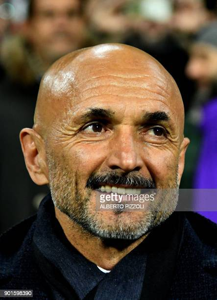 Inter Milan's coach Luciano Spalletti during the Italian Serie A football match Fiorentina vs Inter Milan on January 5 2018 at Artemio Franchi...