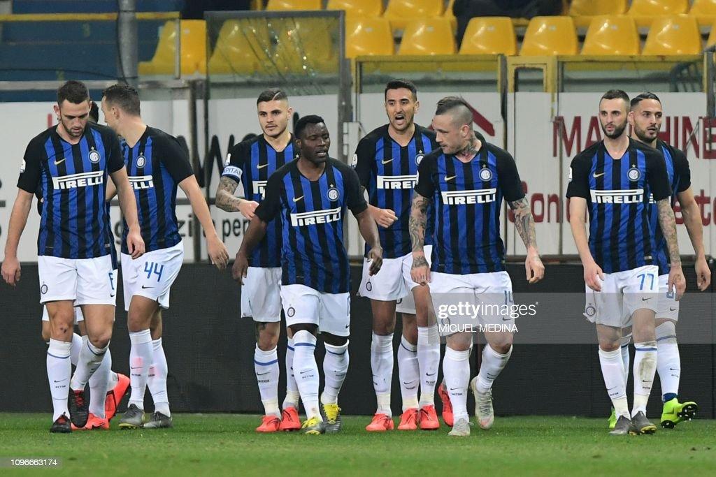 Inter Milan's Ghanaian midfielder Kwadwo Asamoah , Inter Milan's