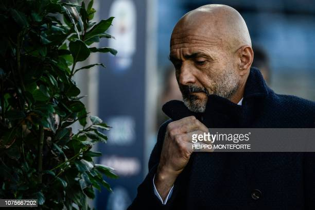 Inter Milan's head coach Luciano Spalletti attends the Italian Serie A football match Empoli vs Inter Milan on December 29 2018 a the CarloCastellani...