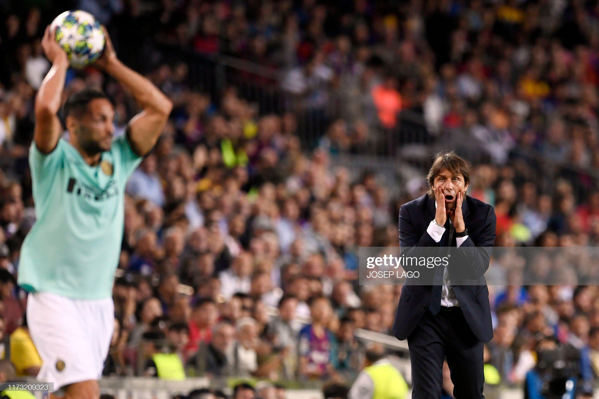 صور مباراة : برشلونة - إنتر 2-1 ( 02-10-2019 )  Inter-milans-italian-coach-antonio-conte-gestures-during-the-uefa-picture-id1173209323?s=2048x2048