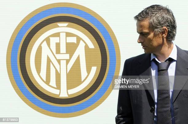 Inter Milan's new coach Portuguese Jose Mourinho poses during a photo call in Appiano Gentile about 40km northern Milan on June 3 2008 The Portuguese...