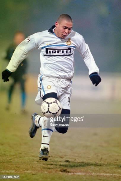 Inter striker Ronaldo in action during a UEFA European Champions League match against Sturm Graz on December 9 1998 in Graz Austria