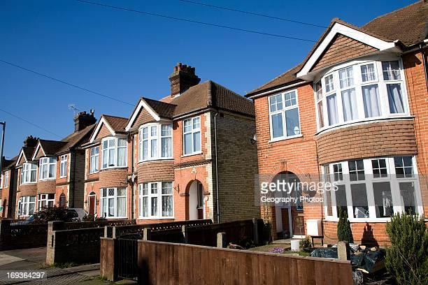 Inter war semi detached housing Ipswich Suffolk