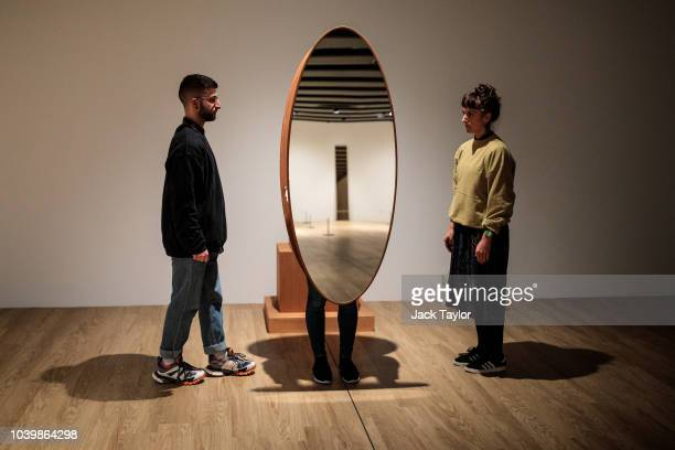 'Interactive Abstract Bodies ' 2012 by Josiah McElheny is performed during a media preview for the Space Shifters exhibition at the Hayward Gallery...